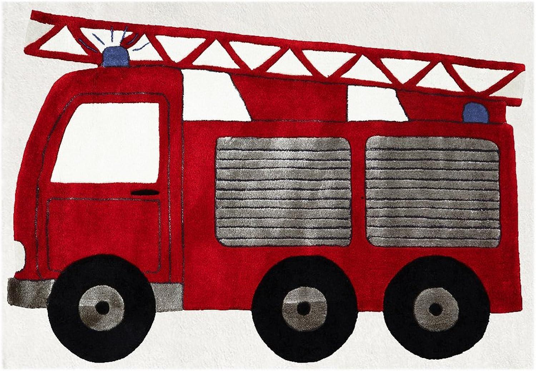Livone Kinderteppich Kinderteppich Kinderteppich Happy Rugs Feuerwehrauto rot 120x180cm B00MMPTG6U ab9830