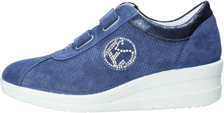 Enval soft 12654 Jeans Scarpa Scarpa damen Turnschuhe Zeppa 5 Pelle Made in   Online-Mode einkaufen