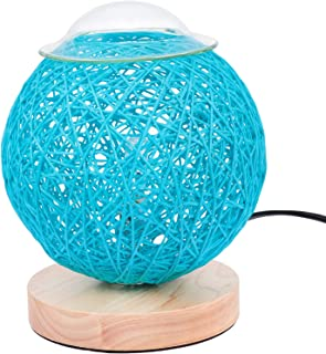 FRCOLOR Rattan Ball Night Light Bedside Lamp USB Powered Rattan Ball Lamp Creative Birthday Gift Bedroom Home Bookroom Decor