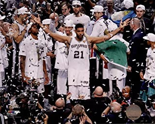 Great Art Now Tim Duncan Celebrates Winning Game 5 of the 2014 NBA Finals Art Print, 10 x 8 inches