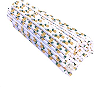 200 Pack Mymicco Pineapple Design Paper Straws ECO-Friendly & Biodegradable - Item 200PNP