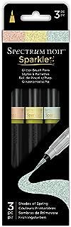 Spectrum Noir SPECN-SPA-SPRI3 3 Piece Sparkle Fine Glitter Brush Pens Set, Shades of Spring, Pack of 3
