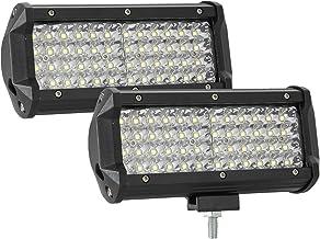 Akozon 2Pcs Supporto universale per fari da lavoro a LED in acciaio inossidabile per cofano per auto