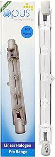 2 x Bombilla Lampara Halogena Blanco Calido R7 100W consumo