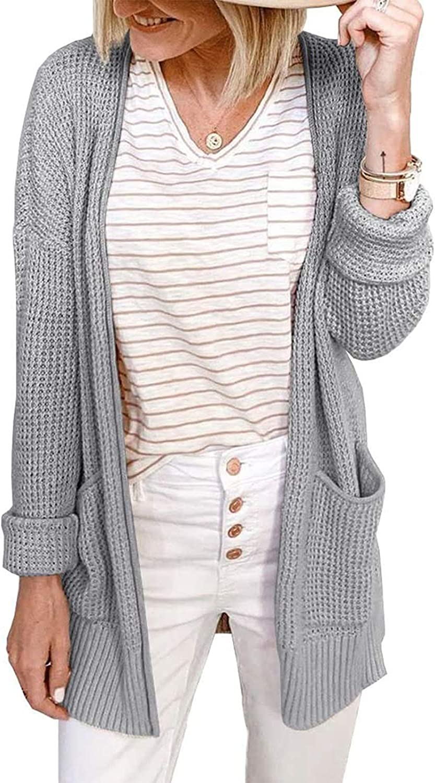 Women's V-Neck Cardigan No Long-awaited Button Sleeve Knit Long Pocket Wholesale Double
