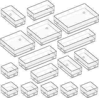 Kootek Modular Desk Drawer Organizer Bins with Different Sizes Drawer Dividers 16 Organizers Bins Customize Layout Storage...