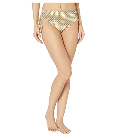 Jonathan Simkhai Chain Print Side Tie Bikini Bottoms (White Combo) Women