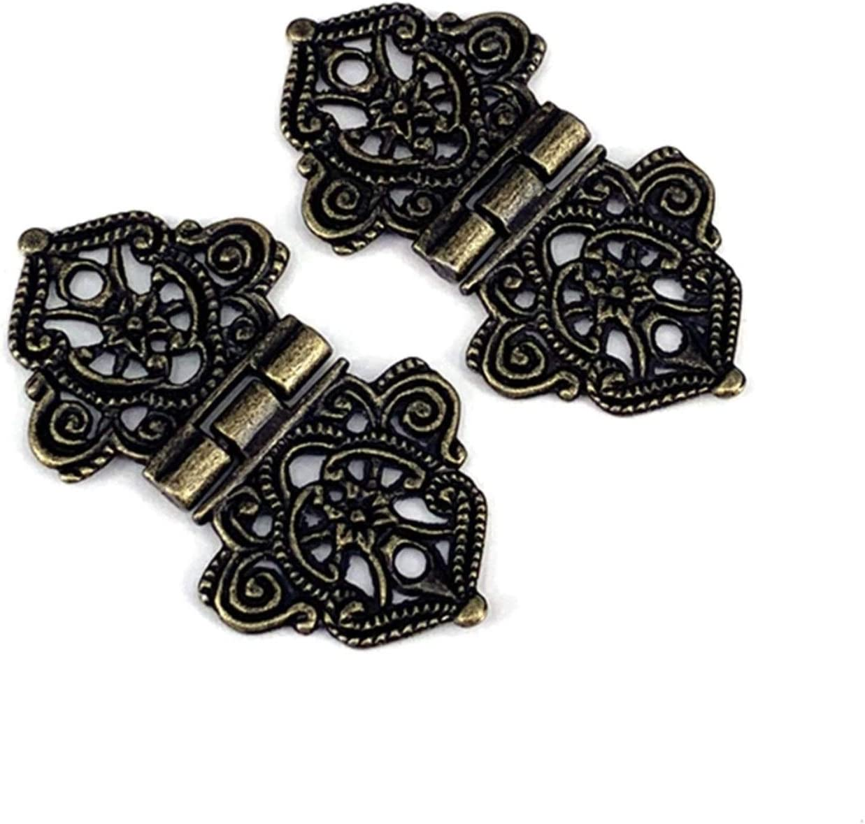 2Pcs 24x54mm Antique OFFer Lace Hinges Box Ha Jewelry Wooden Brand new Furniture