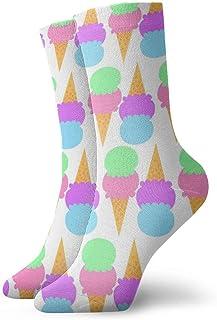 Rainbow Unicorn Art Fashion Dress Socks Short Socks Leisure Travel 11.8 Inch