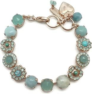 Mariana Swarovski Crystal Rose Goldtone Bracelet Pacific Opalescent & Light Green Mosaic 8068