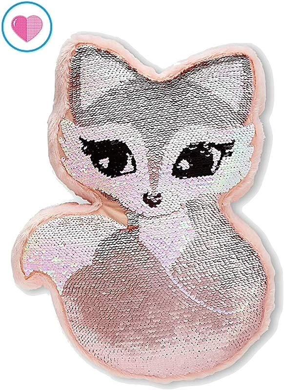 Justice Flip Sequin Pillow Rose Gold Fox