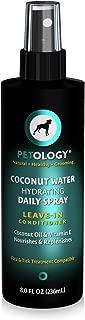 Coconut Water Leave-in Conditioner For Dogs (8 oz) - Coconut Water Hydrating Daily Spray - Leave-In Conditioner With Coconut Oil & Vitamin E - Tropical Coconut Scent