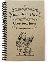 Custom recipe book to write in, personalized gift under 20, 5.5x8.5