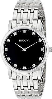 Bulova - Reloj de Hombre 96D106 de Acero Inoxidable con Diamantes