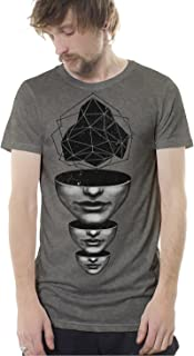 Street Habit Mens Graphic T-Shirt Master Mind Abyss Print Fine Cotton Urban Psychedelic Tee