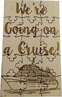 We're Going On A Cruise - 15 Piece Basswood Jigsaw Puzzle, Surprise Vacation Reveal