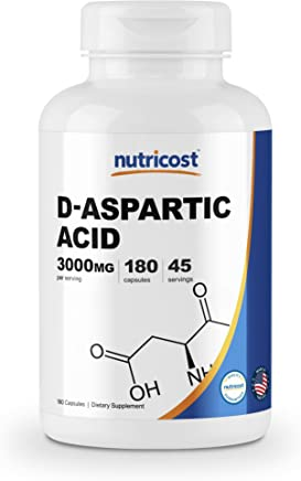 Nutricost D-Aspartic Acid Capsules, (DAA) 180 Capsules - 3000mg Serving