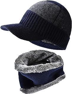 ニット帽子 ネックウォーマー 秋 冬 ビーニーキャップ 裏起毛 伸縮性 防寒 保温 男女兼用
