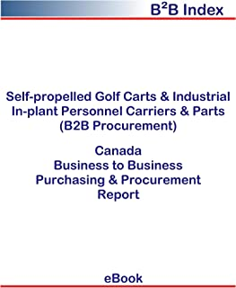 Self-propelled Golf Carts & Industrial In-plant Personnel Carriers & Parts (B2B Procurement) in Canada: B2B Purchasing + Procurement Values