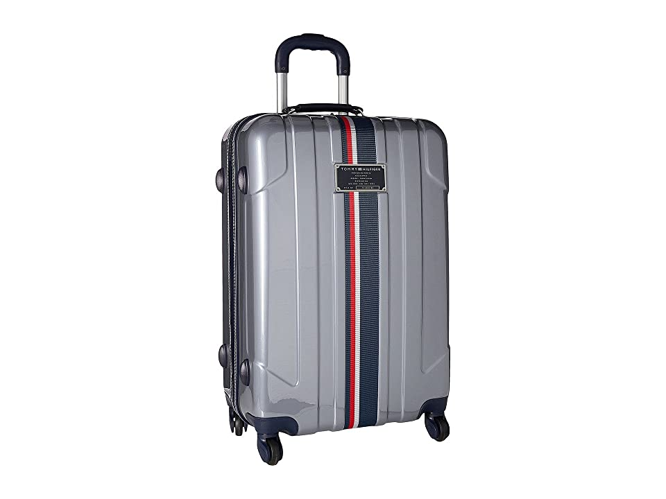 Tommy Hilfiger Lochwood Upright 24 Suitcase (Silver) Luggage
