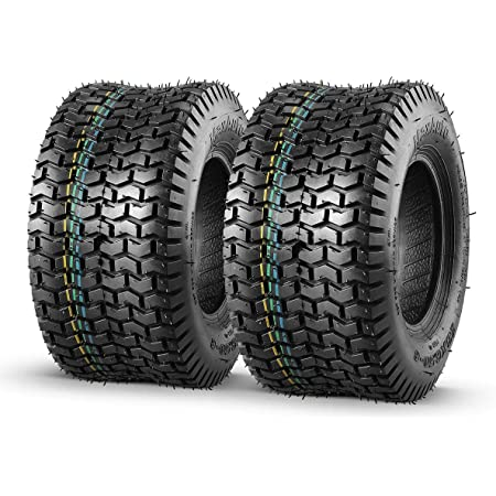 MaxAuto 2 Pcs 13x6.50-6 Turf Tire Mower Lawn and Garden Tractor, 4PR