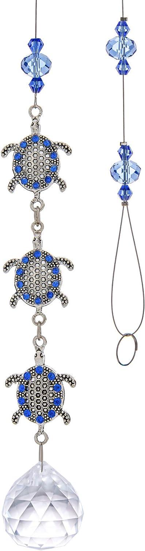 Clear Crystal Prism Suncatcher Ornament Super Surprise price intense SALE with Metal Turtle Ch Sea