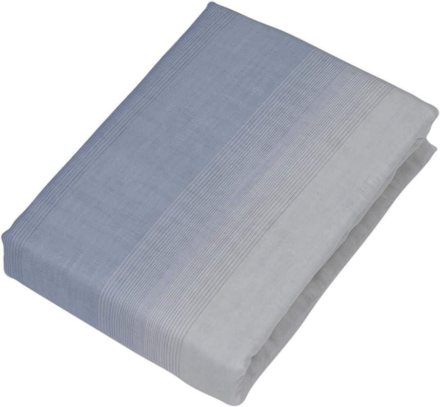 リード痛み兄西川(Nishikawa) 掛けふとんカバー ブルー シングル 150×210cm オーガニックコットン 綿100 ガーゼ 洗える 掛けカバー NX-G-61(OCS)