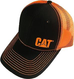 Caterpillar CAT Equipment Charcoal/Neon Orange Snapback...