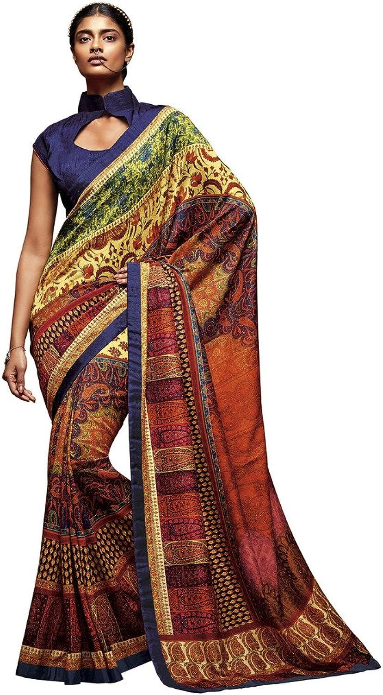 DesiButik's Alluring Multicolor Tusser Silk Saree