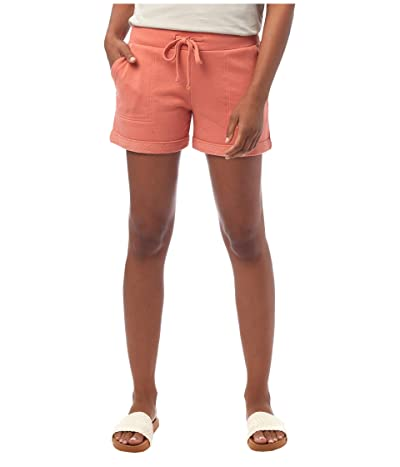 Alternative Lightweight French Terry Lounge Shorts (Sunset Coral) Women