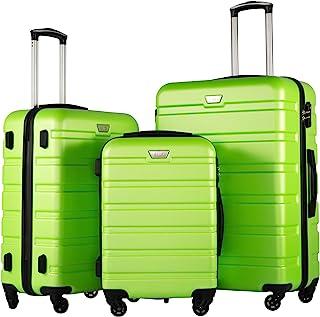 COOLIFE Luggage 3 Piece Set Suitcase Spinner Hardshell Lightweight TSA Lock 4 Piece Set