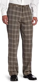 Men's C18 Broken Glen Plaid Straight Fit Flat Front Pant