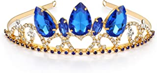 Kzslive - Set di gioielli da principessa Disney, con diadema e collana, per bambine e compleanni, Natale