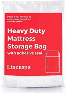 Linenspa Heavy Duty Mattress Storage Bag with Double Adhesive Closure, King, Heavier