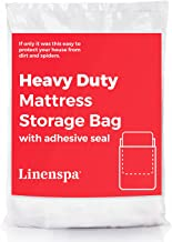 Linenspa Heavy Duty Mattress Storage Bag with Double Adhesive Closure, Twin XL, Heavier