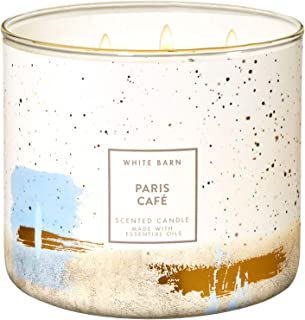 Bath and Body Works PARIS CAFe 3-Wick Candle 14.5 Ounce (2019 Edition, White Barn Label)