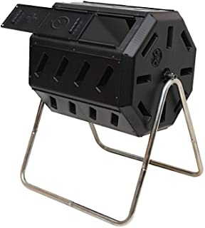 FCMP Outdoor Tumbler Composter, Color Black