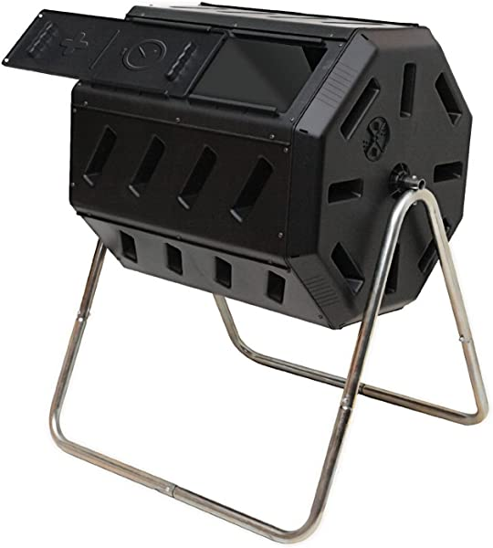 FCMP Outdoor IM4000 Tumbling Composter 37 Gallon Black