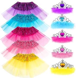 Princess Dress up Accessories Girl Gift Set Crown Dress Tiara Belle Elsa Party Favors Costume for Girls