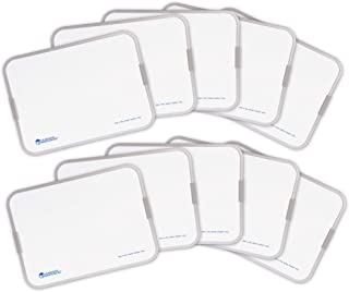Learning Resources 9x12 Inch Dry Erase Boards, Classroom Whiteboard for Students, Double Sided, Set of 10, Ages 3+