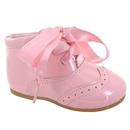 ad6a752ac2b3 EYESONTOES Kids Baby Infants Girls Wedding Party Spanish Ribbon Lace Bow Shoes  Boots SZ 1-