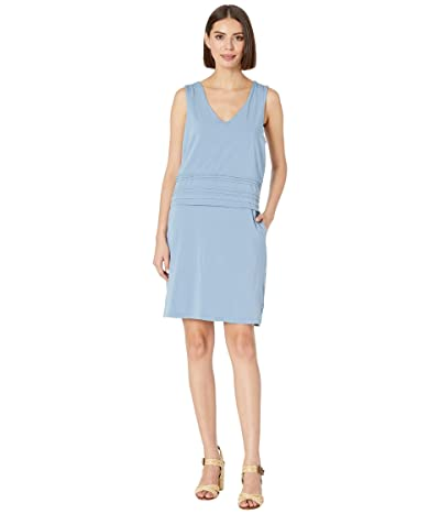 Mod-o-doc Tank Dress with Pintuck Overlay in Cotton Modal Spandex Jersey (Blue Shadow) Women