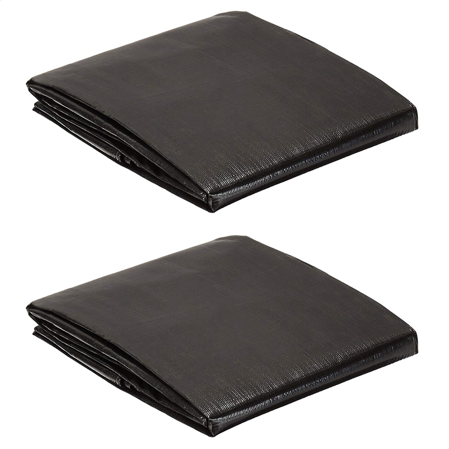 AmazonCommercial Heavy Duty Black Poly Tarp x 2-Pack 12 10 Omaha Mall Popular products ft.