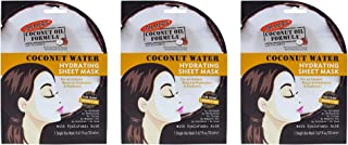 Coconut Water Hydrating Sheet Mask by Palmers for Women - 0.67 oz Mask - (Pack of 3)