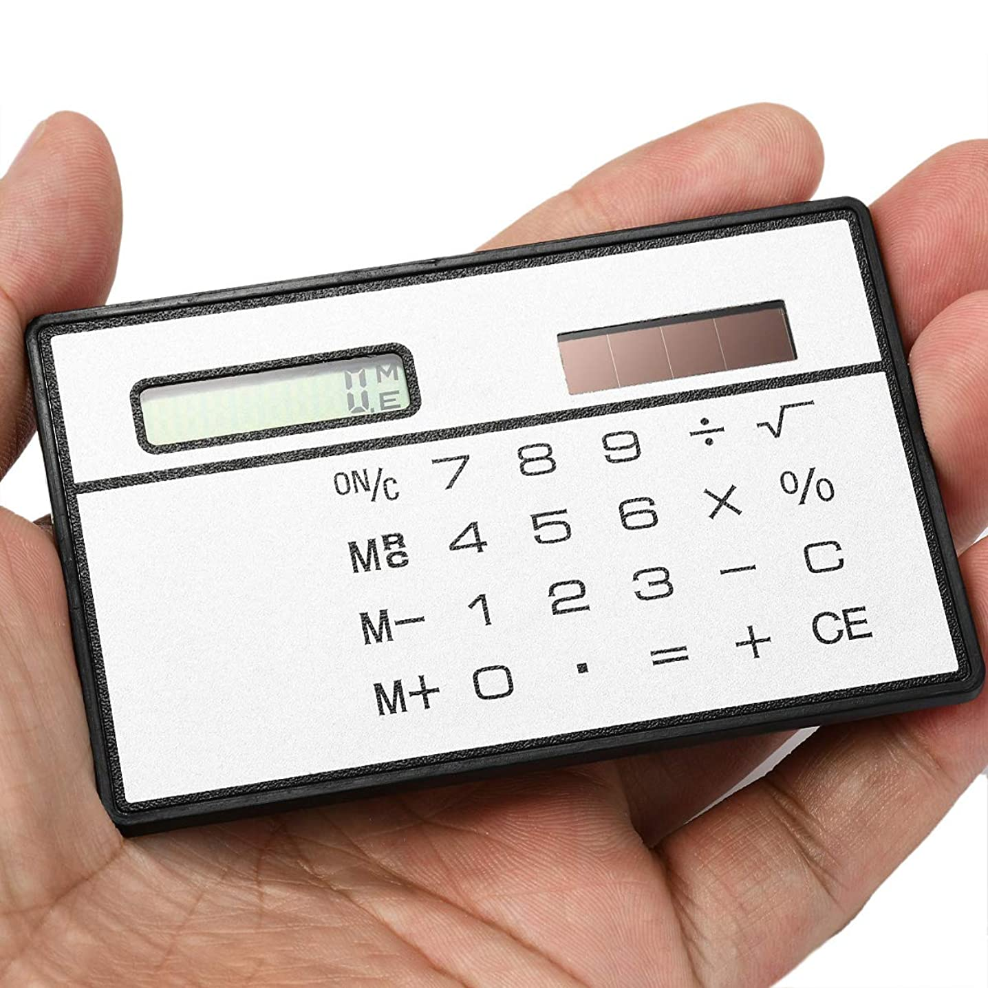 絶滅麻痺練習したZhaozhe電卓 計算機 ソーラー電卓 超薄型 8桁 コンパクト