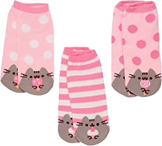 Pusheen The Cat Socks - Ladies Size 6 to 10-3 Pairs of Ankle Socks