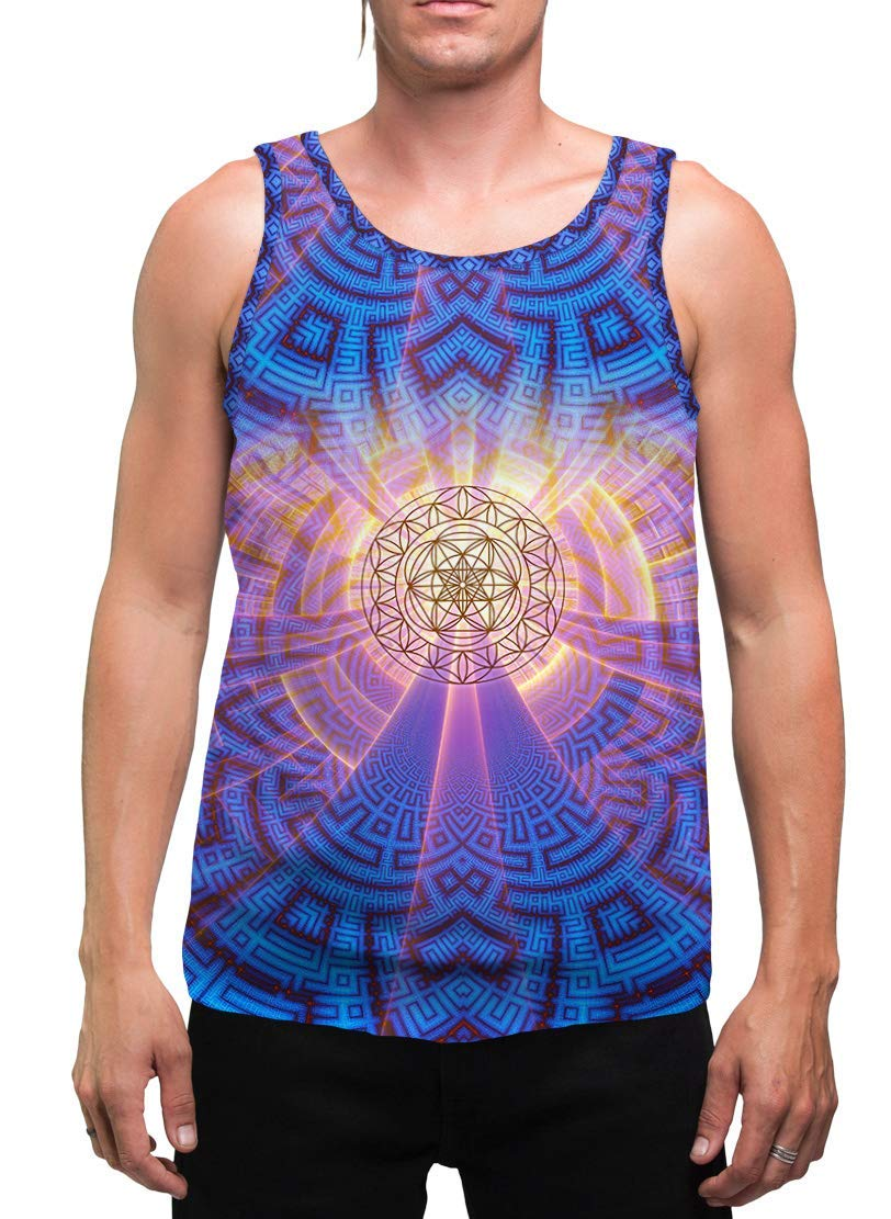 Sacred Geometry Mens Tank Flower low-pricing of Sleev Special price for a limited time Top Life