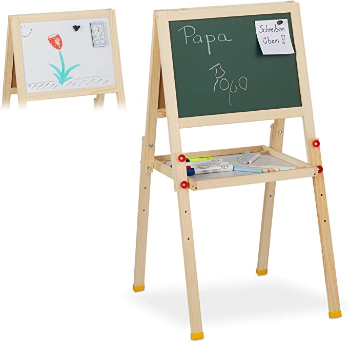 164 opinioni per Relaxdays Lavagnetta per Bambini, Doppia, Lavagna Magnetica & in Ardesia,