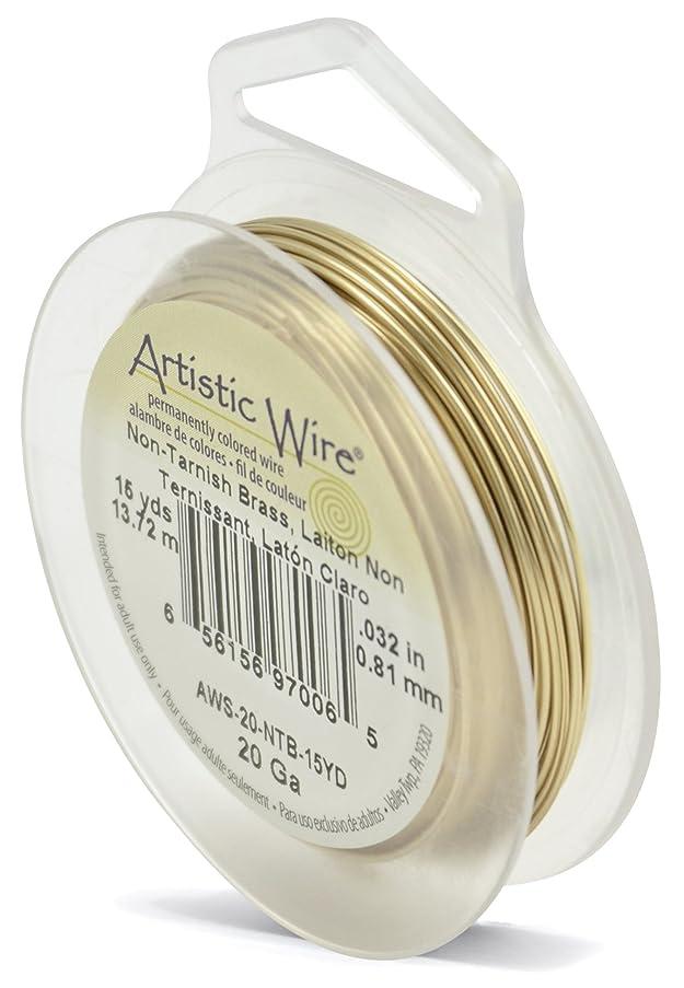 Artistic Wire 20-Gauge Non-Tarnish Brass Wire, 15-Yards