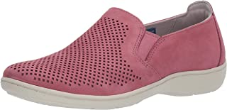 Aravon Womens Lia Slipon Sneaker, Pink, 7 Wide